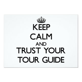 Keep Calm and Trust Your Tour Guide Invitation