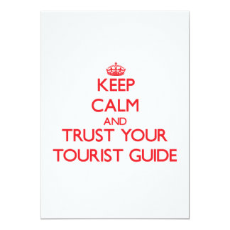 Keep Calm and trust your Tourist Guide Custom Invitation