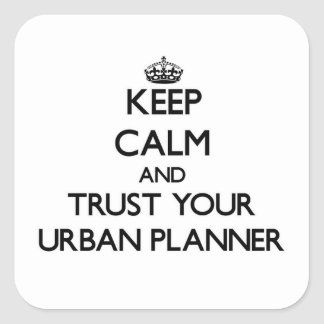 Keep Calm and Trust Your Urban Planner Sticker