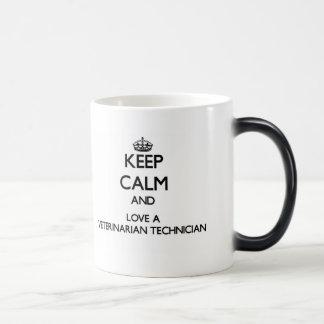Keep calm and trust your Veterinarian Technician 11 Oz Magic Heat Color-Changing Coffee Mug