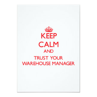 Keep Calm and trust your Warehouse Manager Announcements