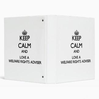 Keep calm and trust your Welfare Rights Adviser Vinyl Binders