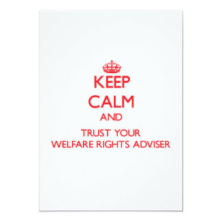 Keep Calm and trust your Welfare Rights Adviser Personalized Announcements