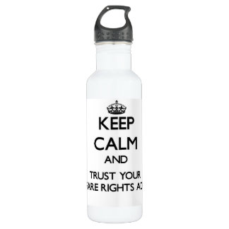 Keep Calm and Trust Your Welfare Rights Adviser 24oz Water Bottle