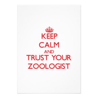 Keep Calm and trust your Zoologist Invitation