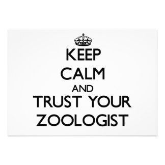 Keep Calm and Trust Your Zoologist Personalized Invite