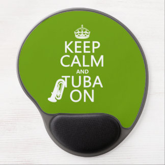 Keep Calm and Tuba On (any background color) Gel Mouse Pad