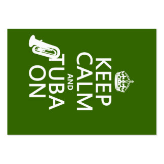 Keep Calm and Tuba On (any background color) Large Business Card