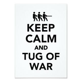 Keep calm and tug of war card