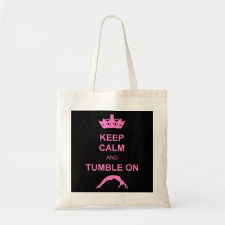 Keep calm and tumble gymnast bags