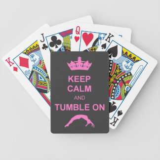 Keep calm and tumble gymnast bicycle playing cards
