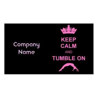 Keep calm and tumble gymnast Double-Sided standard business cards (Pack of 100)
