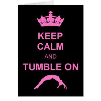 Keep calm and tumble gymnast card