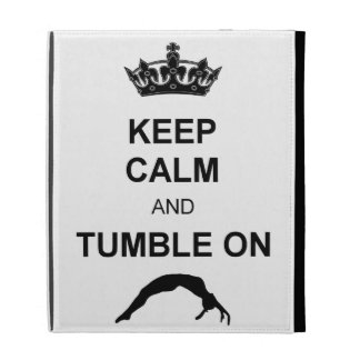 Keep calm and tumble gymnast iPad cases