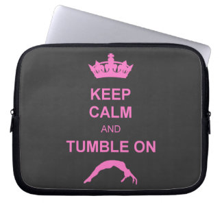 Keep calm and tumble gymnast computer sleeve