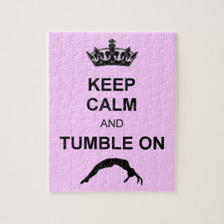 Keep calm and tumble gymnast jigsaw puzzle