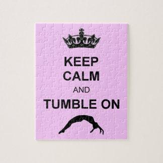 Keep calm and tumble gymnast jigsaw puzzle