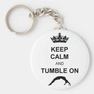 Keep calm and tumble gymnast keychain