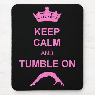 Keep calm and tumble gymnast mouse pad