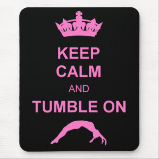 Keep calm and tumble gymnast mouse pad