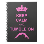 Keep calm and tumble gymnast note book