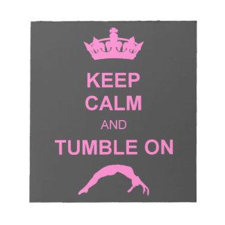 Keep calm and tumble gymnast notepad