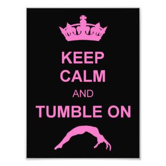 Keep calm and tumble gymnast photo print