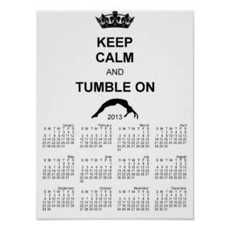 Keep calm and tumble gymnast poster