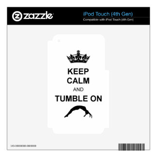 Keep calm and tumble gymnast iPod touch 4G skins