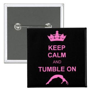 Keep calm and tumble gymnastics button