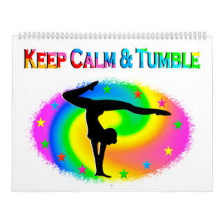 KEEP CALM AND TUMBLE GYMNASTICS CALENDAR