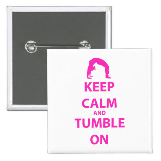 Keep Calm and Tumble On 2 Inch Square Button