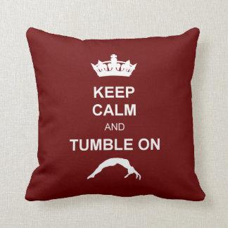 Keep Calm and Tumble on Throw Pillow