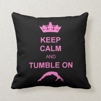 Keep Calm and Tumble Throw Pillow