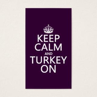 Keep Calm and Turkey On (christmas) Business Card