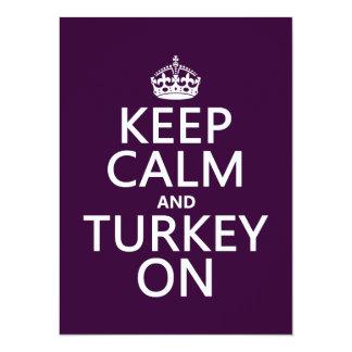 Keep Calm and Turkey On (christmas) Card