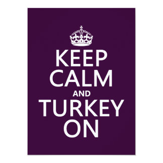 Keep Calm and Turkey On (christmas) Card