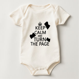 Keep Calm and Turn The Page Baby Bodysuit