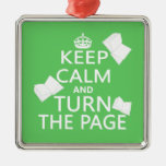 Keep Calm and Turn The Page Christmas Tree Ornament