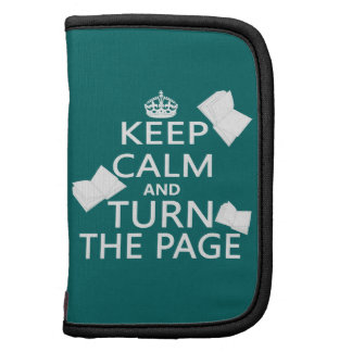Keep Calm and Turn The Page Folio Planners