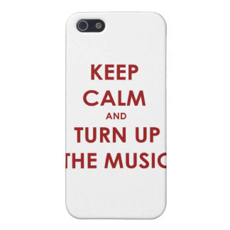 Keep Calm and Turn Up The Music iPhone SE/5/5s Case