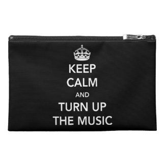 Keep Calm and Turn Up the Music Travel Accessory Bags