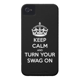 Keep Calm and turn your swag on iPhone 4 Covers