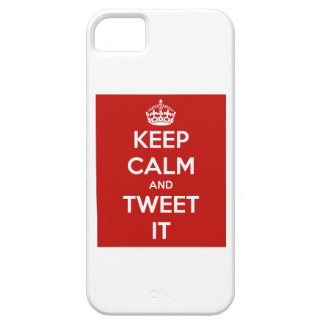 Keep Calm and Tweet It iPhone 5 Cover