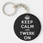Keep Calm and Twerk On Basic Round Button Keychain