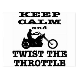 Keep Calm And Twist The Throttle Biker Postcard