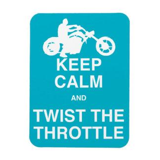 Keep Calm and Twist the Throttle - Chopper/Harley Rectangular Photo Magnet