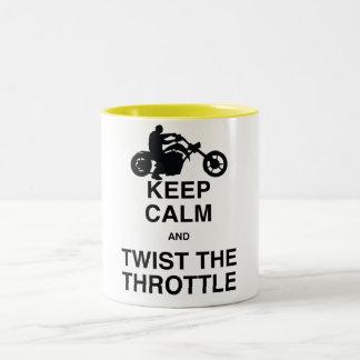 Keep Calm and Twist the Throttle - Chopper/Harley Two-Tone Coffee Mug