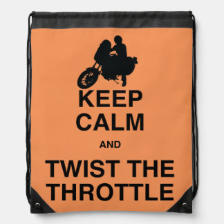 Keep Calm and Twist the Throttle - Cruiser/Harley Drawstring Bag