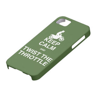 Keep Calm and Twist the Throttle - Dirt Bike iPhone SE/5/5s Case